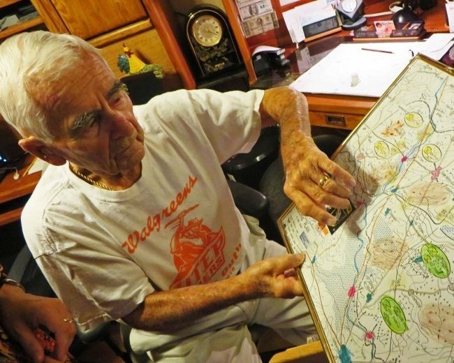 Beamy with D-day memorabilia