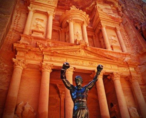 rocky statue petra