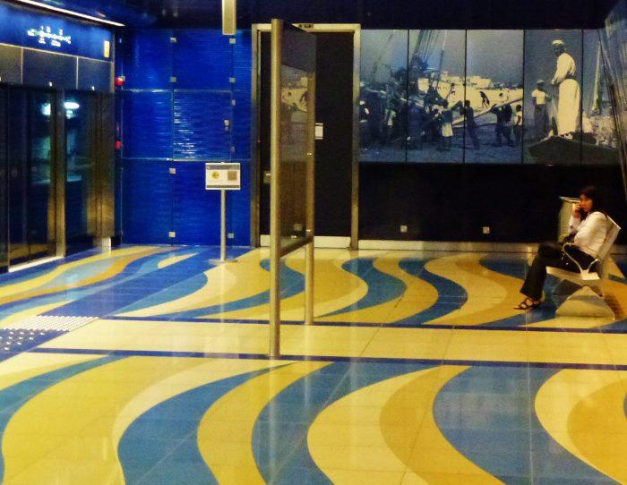 dubai metro station tile floor