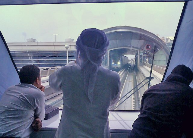 Dubai metro riding in front (640x458)
