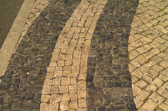mosaic sidewalks of lisbon