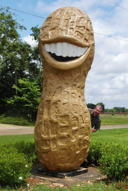 giant peanut plains jimmy carter smile