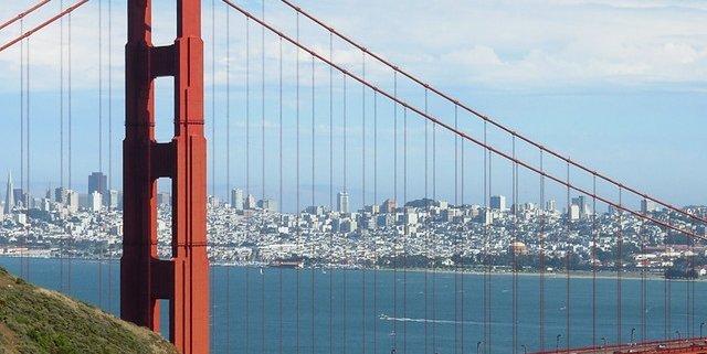 Golden Gate Bridge view from north