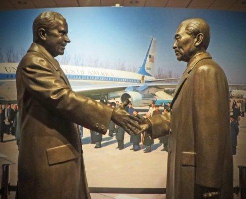 Statue of RM Nixon at Nixon Library