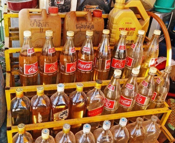 Petrol coke bottles