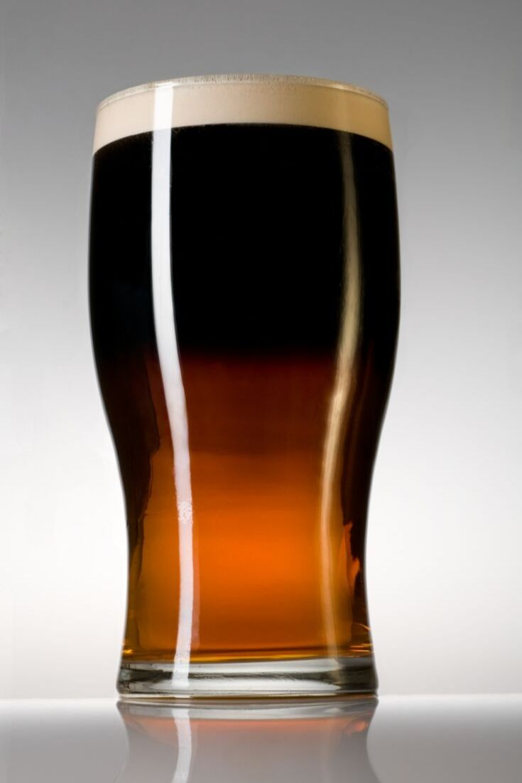 Black and tan--Guinness and Bass Ale