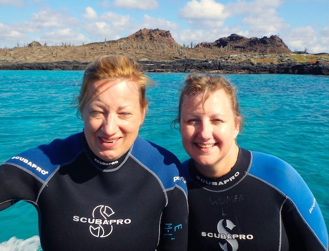 swimming with sea lions in galapagost