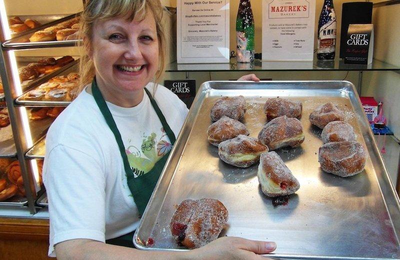 Tray of jelly donuts, buffalo
