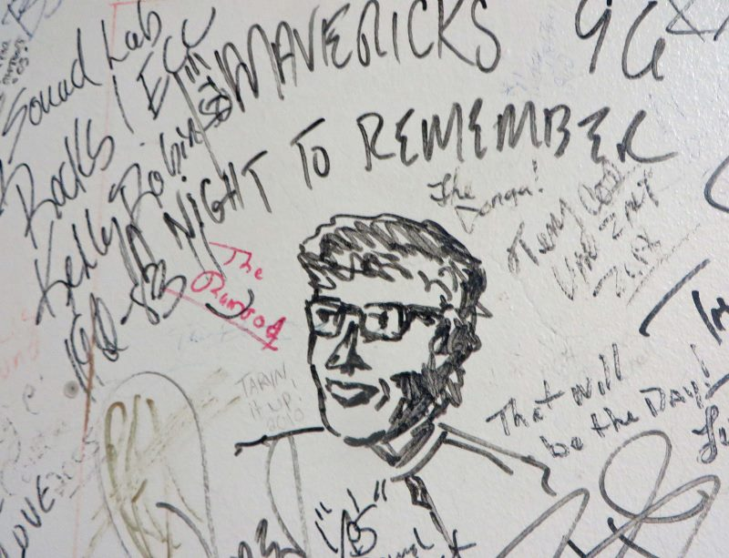 Buddy Holly surf ballroom green room wall (800x613)