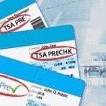 Airline ticket with TSA Precheck designation