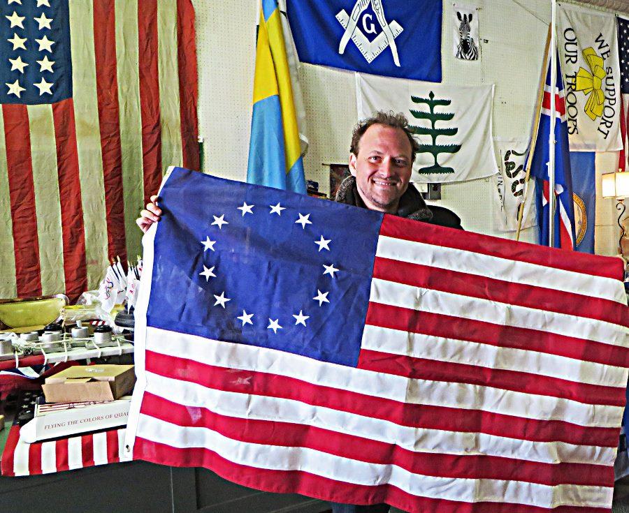 Philadelphia Liberty Trail Betsy Ross flag