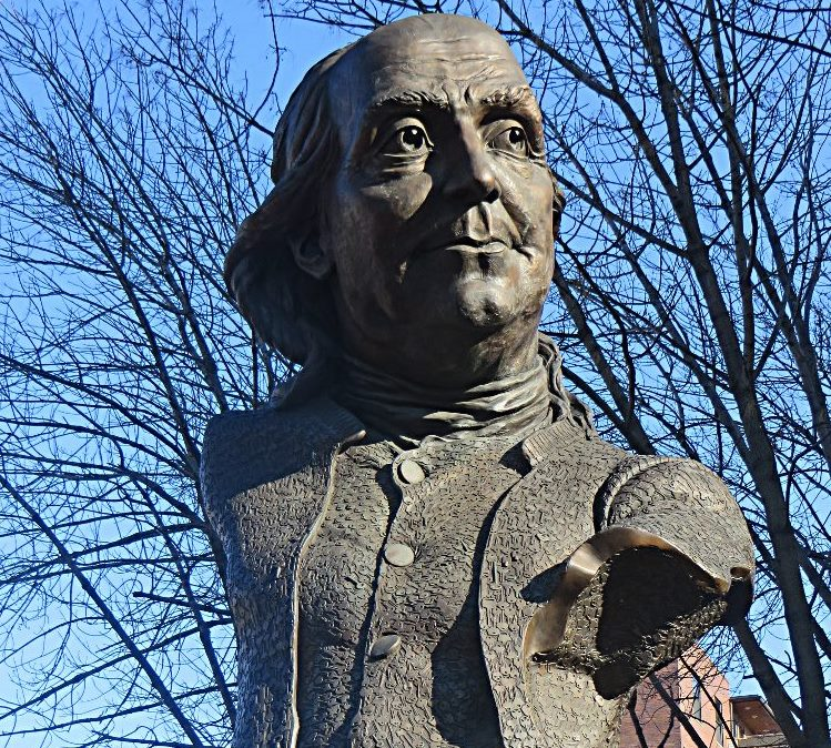 Benjamin Franklin statue on the Philadelphia Liberty Trail