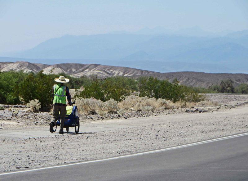 walking acorss america death valley