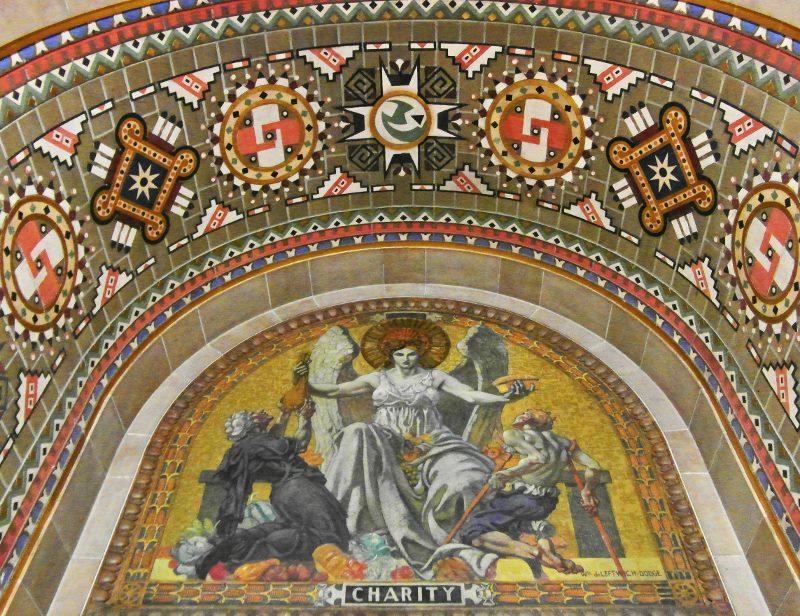 Buffalo City Hall tile mosaic