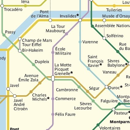 Paris Metro map screenshot