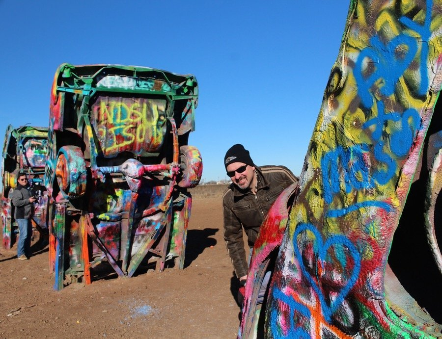 Visiting Cadillac Ranch in Texas Michael Milne