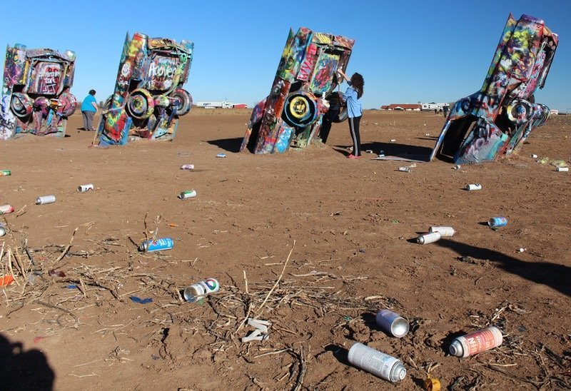 Amarillo Cadillac Ranch paint cans