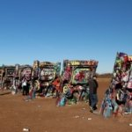 painted cars at Cadillac Ranch