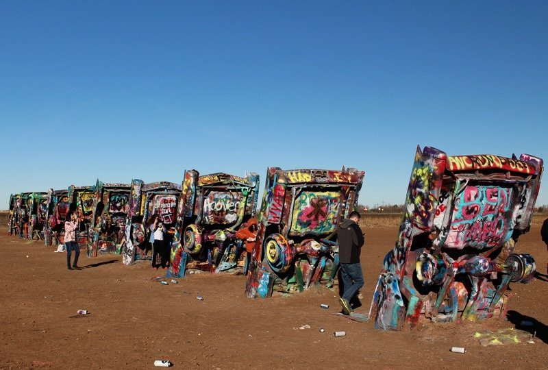 Along Route 66 Cadillac Ranch And The Car Sculptures Of