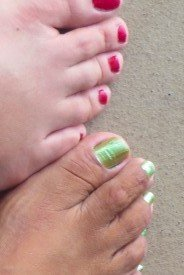 Midlife adventure in the Galapagos-pedicure