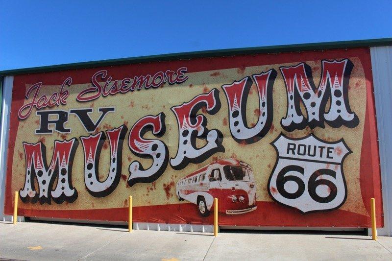 Jack Sisemore RV museum sign