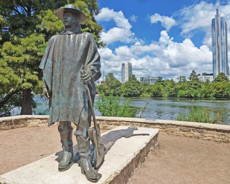 SRV Stevie Ray Vaughan statue Austin texas