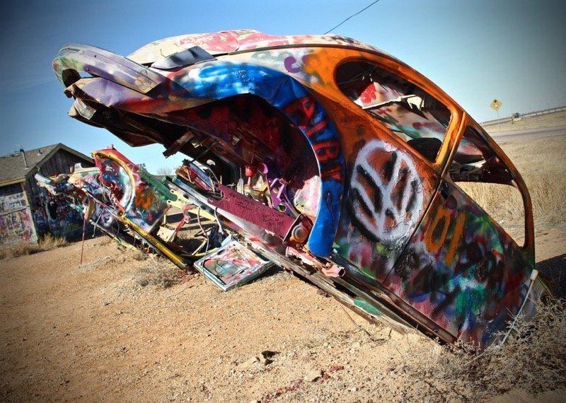 Texas Bug Racnh car scupture VW