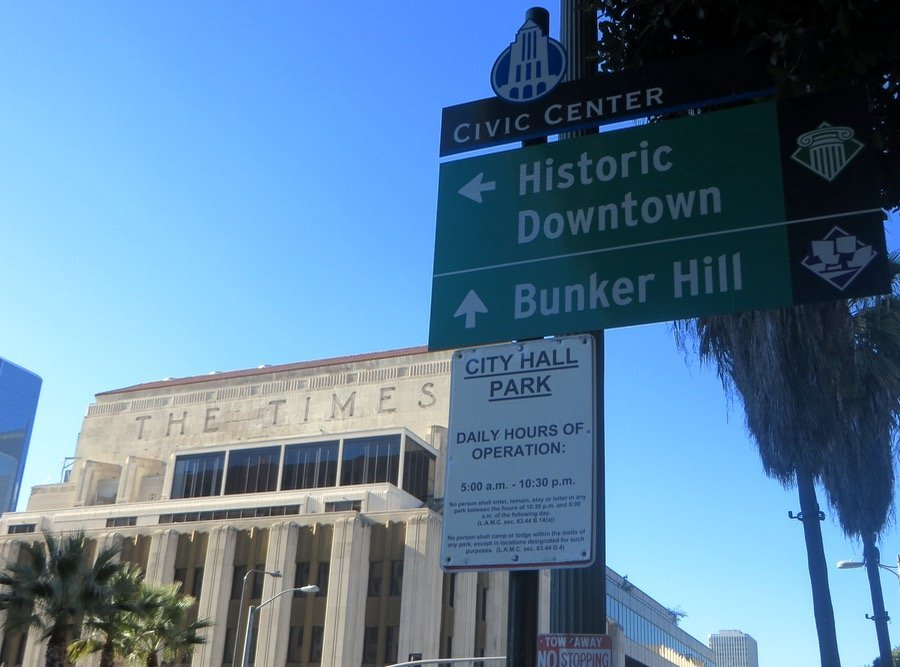 Walking around historic downtown Los Angeles