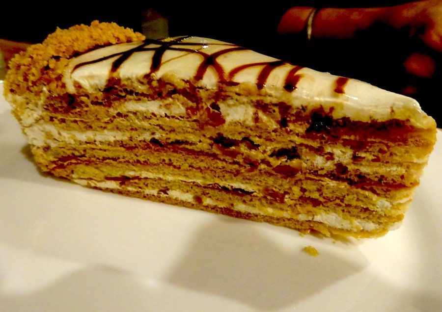 Bucharest pastry layer cake