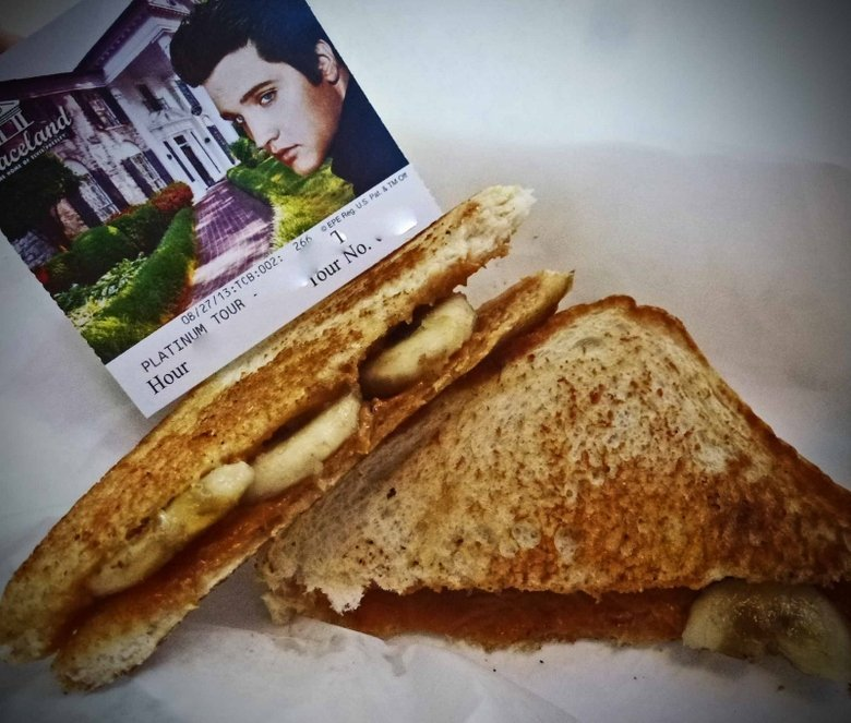 Elvis Presley fried peanut butter and banana sandwich graceland