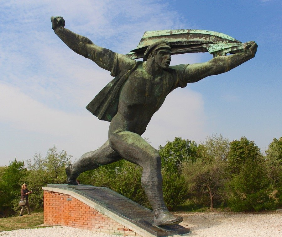 Communist Statues At Memento Park In Budapest