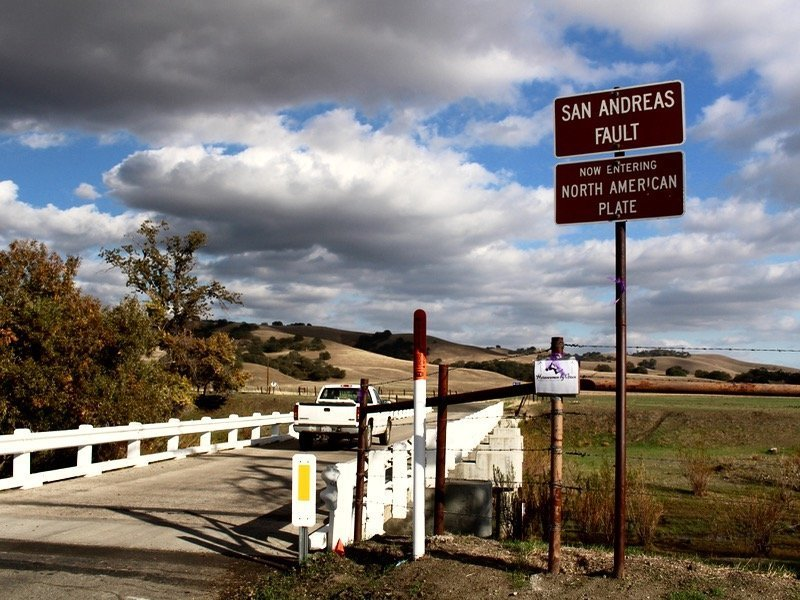 San Andreas fault Parkfield California bridge