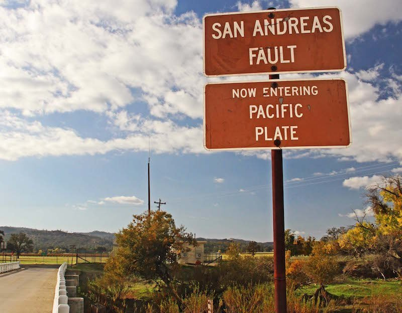 San Andreas fault parkfield pacific Plate sign