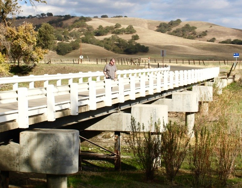 San andreas fault shifting bridge Parkfield
