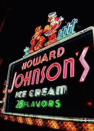 Howard Johnsons vintage sign