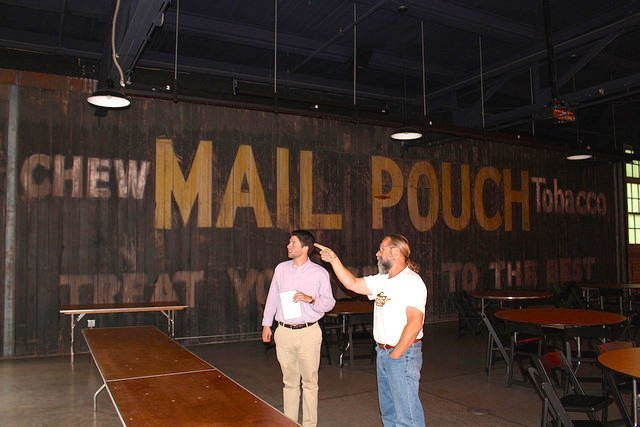 Vintage wood barn Mail Pouch tobacco sign