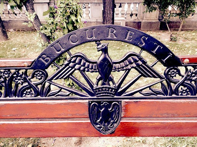 Bucharest park bench