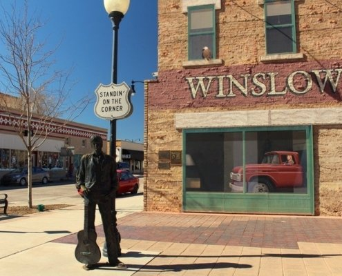 Standing on a corner Park Winslow Arizona