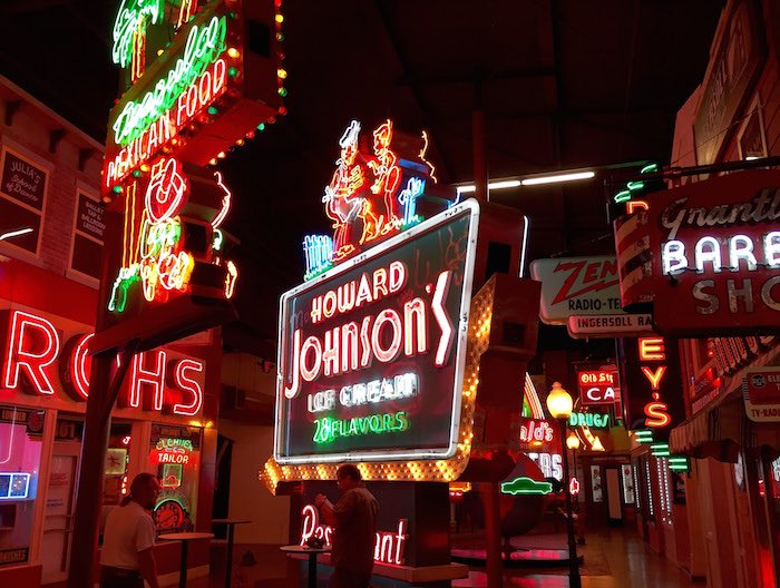 Vintage neon signs at American Sign Museum in Cincinnati