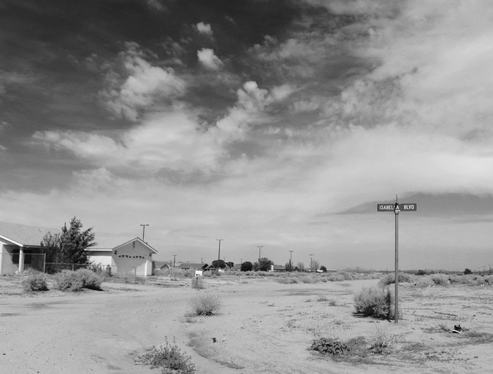 California City ghost town street sign houses