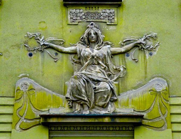 Ljubljana Slovenia building detail
