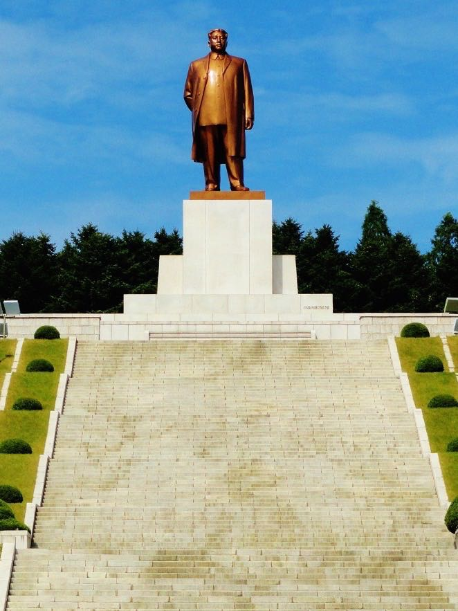 A recent monument to Kim Il Sung--definitely NOT part of the ancient history of North Korea