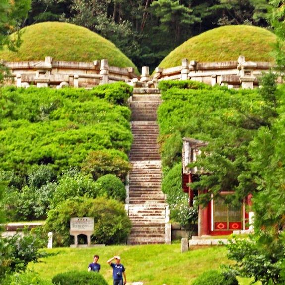 Hyonjongrung royal tombs from the 14th century. A bit of ancient history in North Korea