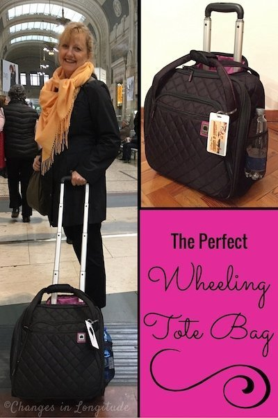 After 4 years of research I finally found the perfect wheeling tote bag for travel.