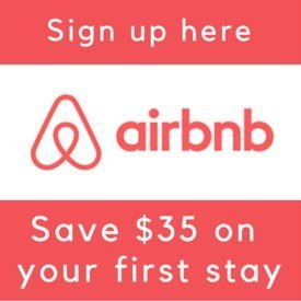 Sign up for Airbnb through our referral link and you'll get at $35 on your first stay (& so will we :)