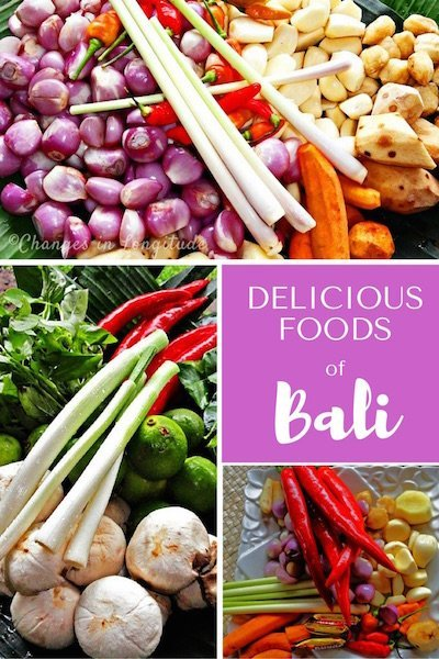 Fresh vegetables, succulent curries, the aroma of grilling wafting through the air . . . the foods of Bali make this island paradise even more special