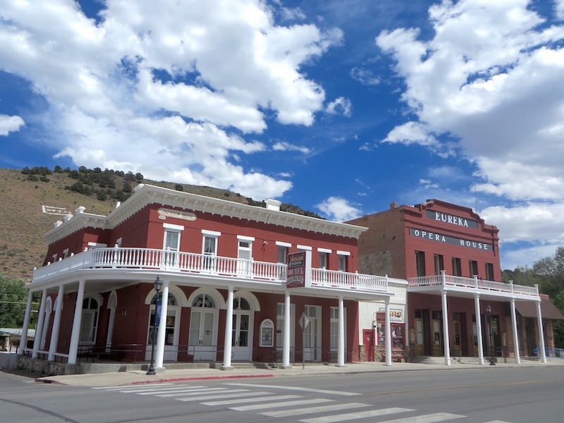 The Victorian-era buildings that line the main street of Eureka, Nevada are a well-preserved testament to the once-bustling commerce along the Loneliest Road