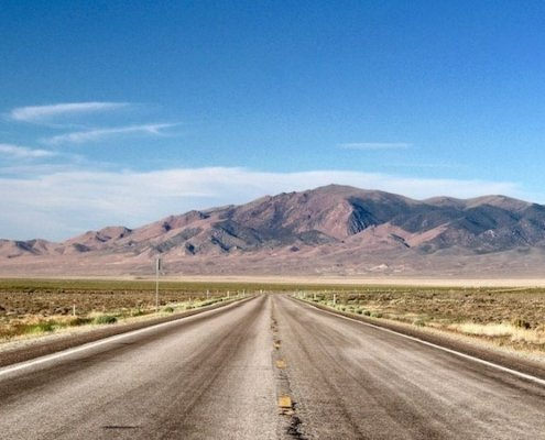 Nevada's Loneliest Road: a desolate but beautiful 2-lane highway that passes through 7 mountain ranges and high desert plateaus