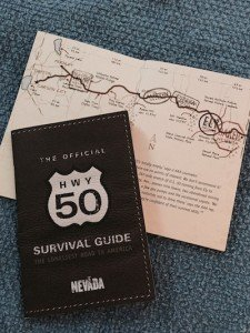 "Pick up a ""passport"" to chart your progress along Nevada's Loneliest Road"