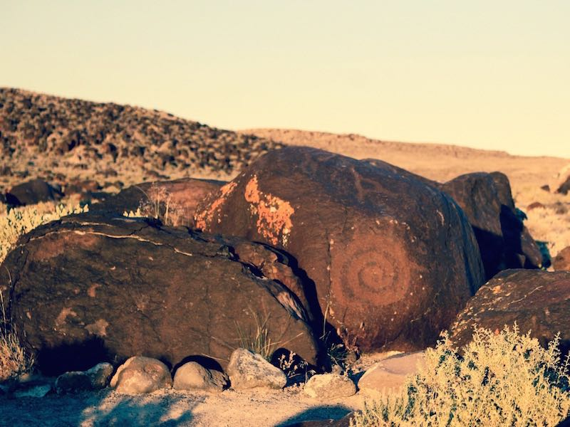 Petroglyphs from 3,000 years ago offer an intriguing diversion at Grimes Point, along Nevada's Loneliest Road